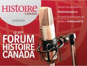 18 Novembre: 3ième forum Histoire Canada.  Cliquez ici pour plus d'info.