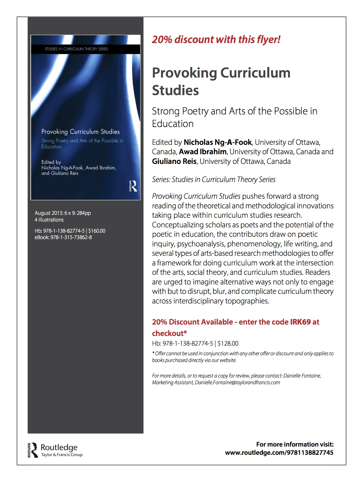 Provoking Curriculum Studies Flyer 2