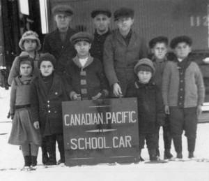 L'autobus scolaire Canadien Pacifique